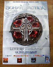 Original Promo Poster - Sonata Arctica - Live In Finland / Metal Rock Poster