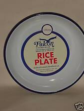 New Falcon White Enamel Round Pie Rice Plate Baking Dish Tin 18cm