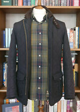 £169 Mens Barbour Quilted Lutz smart navy jacket size S Small 34 36