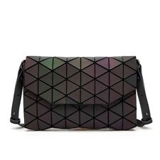 Women Handbag Geometric Lattice Luminous Shoulder Bag Envelope Clutch Messenger