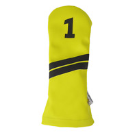 Sunfish Leather golf driver headcover - yellow and black