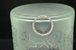 SILVER PLATED CIRCLE OF LOVE DIAMOND PENDANT CHARM 0.15 TCW #19396