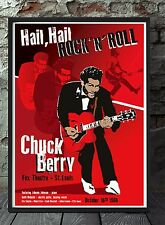 Chuck Berry original poster artwork. Celebrating famous venues and gigs.