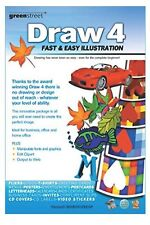 """""""Draw 4: FAST and EASY ILLUSTRATION."""" PC DRAWING SOFTWARE, VERY GOOD CONDITION."""