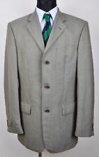JOOP Textured Pattern Grey Khaki Blazer UK 40L Coat Tweed Jacket Gr.50L Sakko 98