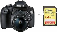 EOS 2000D and EF-S 18-55 mm f/3.5-5.6 IS II Lens + 64GB Card / Stock in UK