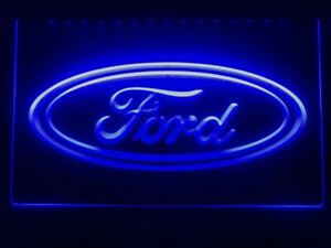 Ford Motor LED Neon Sign Light Up Pub Bar Garage Car Van Truck Fiesta Focus Rum