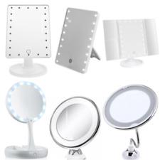 Kosmetikspiegel LED bis10-fach Vergrößerung Saugnapf Schmink- Rasierspiegel
