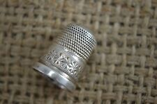 ANTIQUE Charles HORNER sterling silver thimble 8 hallmarked Edwardian