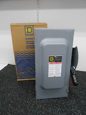 Square D Hu362 Series F05 Safety Switch 600V, 3Pst. 60 Amps Ac