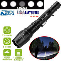 Tactical 350000LM Zoomable Focus LED T6 High Power Flashlight 18650 Torch Lamp