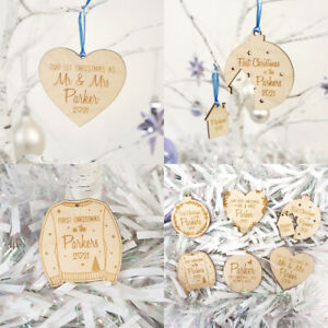 Personalised Christmas Bauble - Last Christmas & First Christmas Tree Decoration