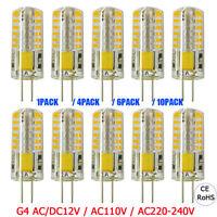 1/4/6/10 Pcs G4 3W Capsule Replace Halogen LED Light Bulbs Equivalent Lamps 12V