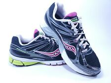Saucony Progrid Guide 6 Women's Running Shoes Size 8.5 Black/Gray/Magenta