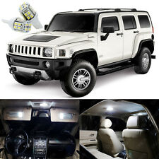 9 x Pure White LED Interior Light Package Kit Deal For Hummer H3 2006 - 2010
