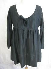 DKNY Pure Size S Designer Black silk blouse