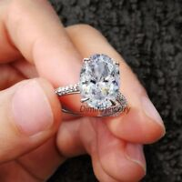 2.50CT Oval-Cut Delicated Diamond Solitaire Engagement Ring 14k White Gold Over