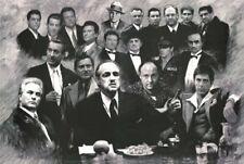 Scarface Soprano Godfather Good fellas Gotti Mafia gangsters poster 24x36
