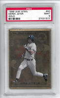Derek Jeter 1996 Leaf Steel Gold Parallel HOF RC PSA 9 Rookie Card DESCRIPTION!