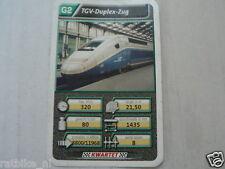22 SUPER TRAIN G2 TGV DUPLEX ZUG TREIN KWARTET KAART, QUARTETT CARD