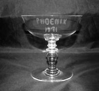 Baccarat France Footed Champagne/Sherbet Phoenix 1971