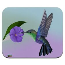 Hummingbird Crowned Woodnymph Purple Violet Low Profile Thin Mouse Pad Mousepad