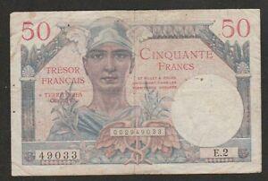 1947 FRANCE 50 FRANC NOTE