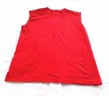 Galaxy by Harvic Big Boys Solid Red Sleeveless T-Shirt (Sizes- M ) 100% Cotton