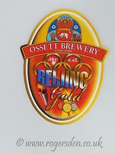 Ossett Brewery Real Ale Pump Clip Beijing Gold