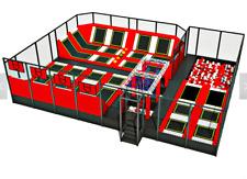 4,000 sqft Commercial Trampoline Park Dodgeball Climb Gym Turnkey We Finance