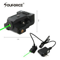 USB Rechargeable Tactical Micro green Laser Sight 20mm rail for Rifle Pistol gun