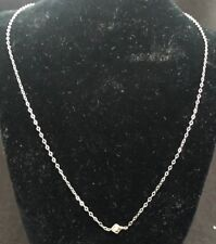 10 KT YELLOW AND WHITE GOLD DIAMOND SOLITARE FANCY LINK  NECKLACE w/COA
