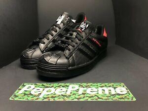 Adidas Superstar Star Wars Darth Vader Size 8-13 FX9302 Core Black/Scarlet Red