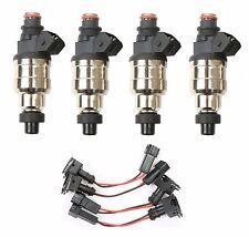 4pcs Low Impedance Fuel Injectors 1200cc for Honda B D H Series VTEC Free Clips