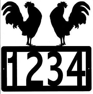 Rooster Address Metal Sign