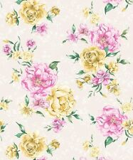 Holden Josephine White Pink Floral Feature Wallpaper 98860