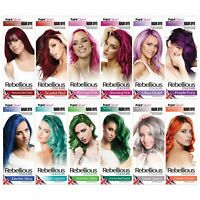 Semi-Permanent Hair Dye, 70ml, Rebellious Colours 100% Vegan Hair Colour Dye