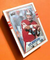 50) JOE MONTANA San Francisco 49ers 1989 Topps Football Card #12 LOT