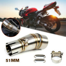 Motorcycle Exhaust Middle Pipe Link Steel Muffler Mid Section Adapter Z250/300