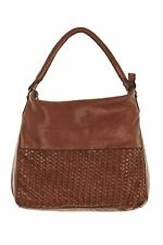 Colorado Leather Weave Large Hobo Womens Shoulder Bags Tan by-Strandbags