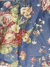 Waverly Garden Room Masterpiece Blue Full Size Bed Skirt/Dust Ruffle