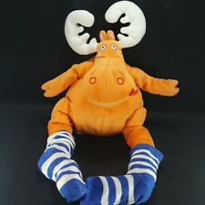 Ikea Barnslig Alg Orange Moose In Striped Socks Soft Toy Plush Stuffed Animal