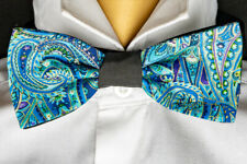 Paisley Bow Tie Hair Bow Neck Tie Prom Bowtie Dickie  Feeanddave