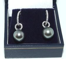 Perlen-Ohrschmuck aus Weißgold mit Schnappverschluss