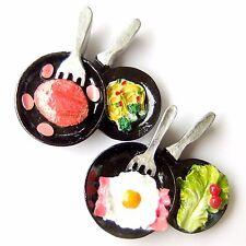 2 pcs Fridge Magnet Food Steak Egg Bacon Spaghetti Vegetable Fruit Pan Fun Decor