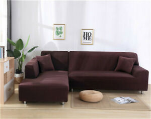 1/2/3/4Seater Washable Sofa Cover Non-Slip Slipcover StretchSoft Couch Protector