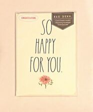 """💎 NEW RAE DUNN """"SO HAPPY FOR YOU"""" LARGE LETTER NOTE CARD (CONGRATULATIONS) 💎"""