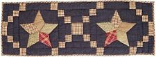 3' Blue Hand Quilted Table Runner Country Farmhouse Star Patchwork Arlington