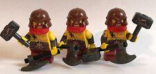 3 LEGO NANI Mini figura da Serie 17 ORIGINALE LEGO MINIFIGURES Casco Marrone