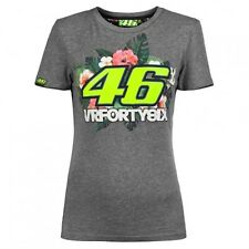 2016 Offiziell Valentino Rossi VR46 grau Blumenmuster T-Shirt - vrwts 206231